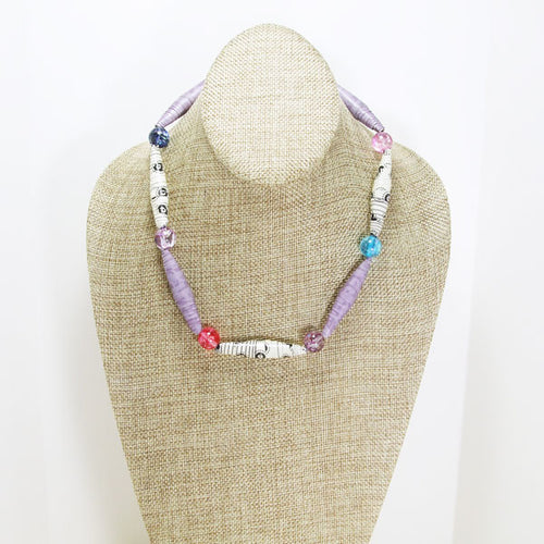 Yakira Paper Bead Necklace relevant front view