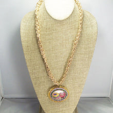 Load image into Gallery viewer, Bakari Bead Embroidery Pendant Kumihimo Necklace front relevant view
