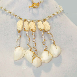 Kaetlyn Beaded Costume Jewelry Necklace pin up view