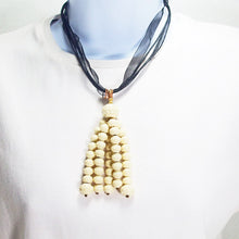 Load image into Gallery viewer, Ladeidra Beaded Tassel Jewelry Necklace relevant front view