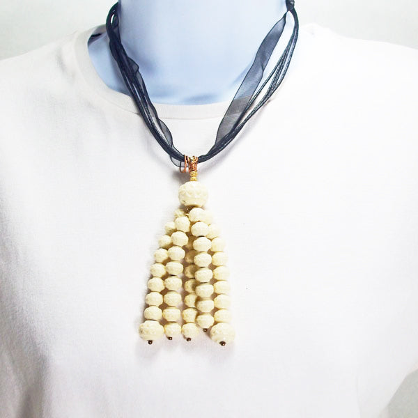 Ladeidra Beaded Tassel Jewelry Necklace relevant front view