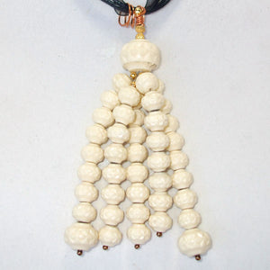 Ladeidra Beaded Tassel Jewelry Necklace blow up view