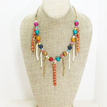 Load image into Gallery viewer, Xandria Multi Colored Beaded Necklace relevant front view