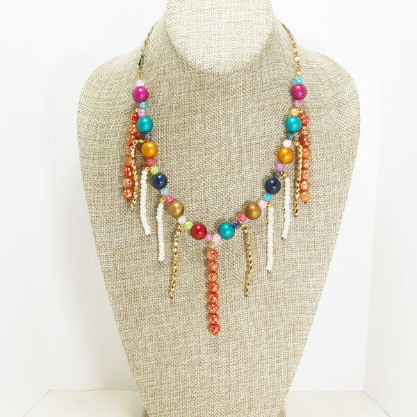 Xandria Multi Colored Beaded Necklace relevant front view