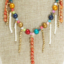 Load image into Gallery viewer, Xandria Multi Colored Beaded Necklace blow up view