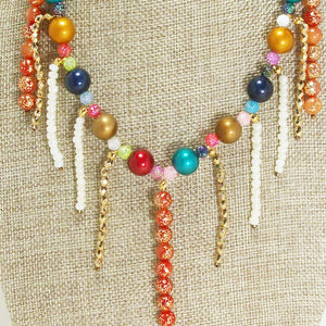 Xandria Multi Colored Beaded Necklace blow up view