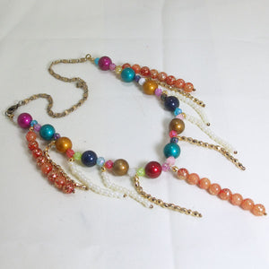 Xandria Multi Colored Beaded Necklace flat view
