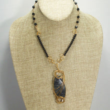 Load image into Gallery viewer, Tafne Gemstone Beaded Pendant Necklace front relevant view