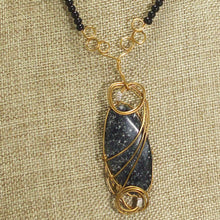 Load image into Gallery viewer, Tafne Gemstone Beaded Pendant Necklace front close view