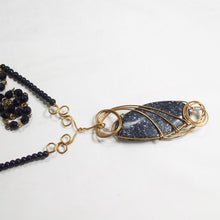 Load image into Gallery viewer, Tafne Gemstone Beaded Pendant Necklace front flat view