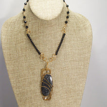 Load image into Gallery viewer, Tafne Gemstone Beaded Pendant Necklace back relevant view