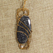 Load image into Gallery viewer, Tafne Gemstone Beaded Pendant Necklace back close view