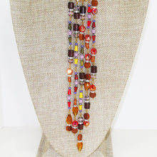 Load image into Gallery viewer, Warda Multi Colored Beaded Dangle Necklace close up view