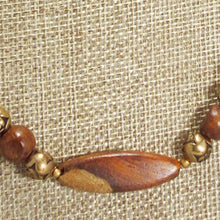 Load image into Gallery viewer, Ulani Teak Wood Beaded Necklace blow up view