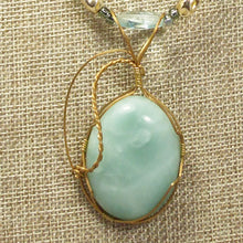 Load image into Gallery viewer, Larissa Aventurine Cabochon Pendant Necklace blow up view