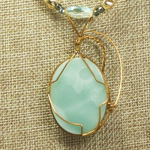 Larissa Aventurine Cabochon Pendant Necklace back relevant view