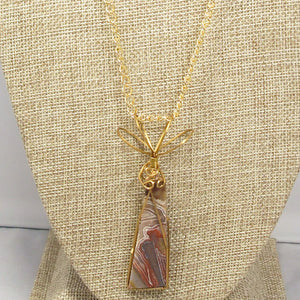 Valentia Cabochon Pendant Necklace front close view