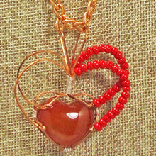 Load image into Gallery viewer, Abauro Carnelian Cabochon Pendant Necklace front bugs eye view