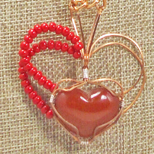 Abauro Carnelian Cabochon Pendant Necklace back close view