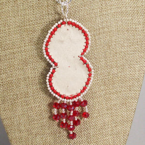 Pancracia Bead Embroidery Pendant Necklace back view