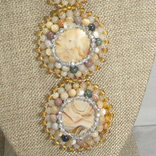 Load image into Gallery viewer, Queralt Jasper Bead Embroidery Pendant Necklace pin up view