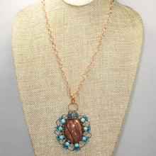 Load image into Gallery viewer, Bakana Rhyolite Cabochon Pendant Necklace front relevant view