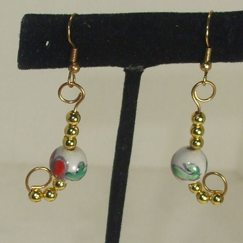 Lanina Christmas Dangle Earrings close up view