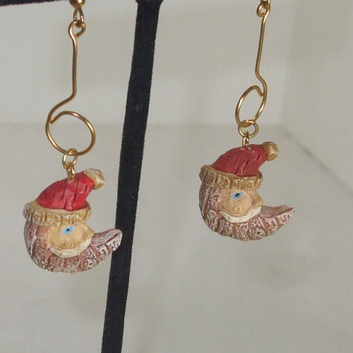Labrenda Christmas Santa Earrings close up view