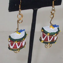 Load image into Gallery viewer, Mabellee Christmas Drummer Earrings close up view