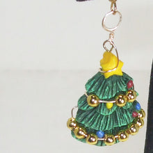 Load image into Gallery viewer, Nadal Christmas Tree Earrings single view