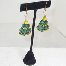 Load image into Gallery viewer, Nadal Christmas Tree Earrings relevant view