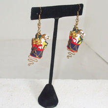 Load image into Gallery viewer, Pabla Christmas Stocking Earrings relevant view