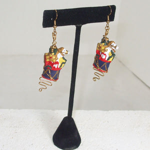Pabla Christmas Stocking Earrings relevant view