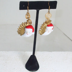 Qiana Christmas Santa Earrings relevant view