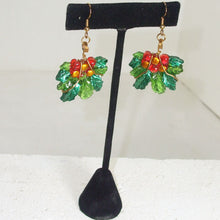 Load image into Gallery viewer, Rabeca Christmas Holly Earrings  relevant view