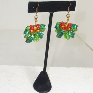 Rabeca Christmas Holly Earrings  relevant view