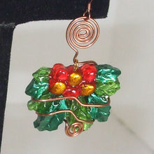 Load image into Gallery viewer, Sabana Christmas Holly Leaves Earrings single view