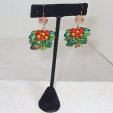 Load image into Gallery viewer, Sabana Christmas Holly Leaves Earrings relevant view
