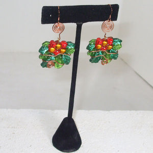 Sabana Christmas Holly Leaves Earrings relevant view