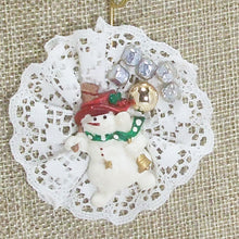 Load image into Gallery viewer, Balbina Christmas Lace Pendant Necklace blow up view front