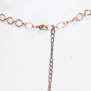 Najila Copper Wire Beaded Necklace clasp view