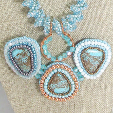 Load image into Gallery viewer, Jackalyn Bead Embroidery Beaded Pendant Necklace blow up view