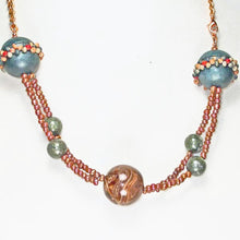 Load image into Gallery viewer, Oba Two Strand Beaded Necklace close up view