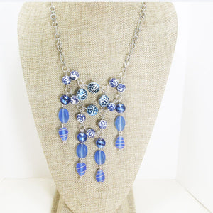 Pacifica Beaded Bib Dangle Necklace relevant front view