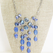 Load image into Gallery viewer, Pacifica Beaded Bib Dangle Necklace close up view