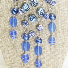 Load image into Gallery viewer, Pacifica Beaded Bib Dangle Necklace blow up view