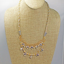 Load image into Gallery viewer, Caitlin Wire Beaded Necklace front relevant view