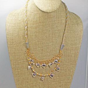 Caitlin Wire Beaded Necklace front relevant view