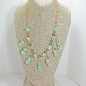 Sachi Beaded Green Agate Necklace relevant view