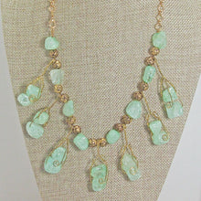 Load image into Gallery viewer, Sachi Beaded Green Agate Necklace close view